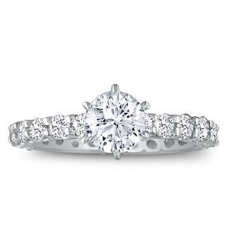2 3/4ct Diamond White Gold Eternity Bridal Engagement Ring, Ring Sizes 4 to 9.5