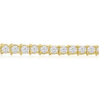 11 Carat Diamond Tennis Bracelet In 14 Karat Yellow Gold, 7 Inches