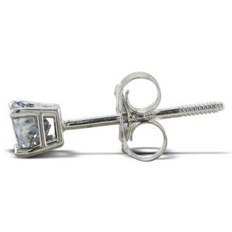 1/2ct Princess Diamond Stud Earrings In Platinum