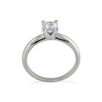 1/4 Carat Princess Diamond Solitaire Engagement Ring In Platinum
