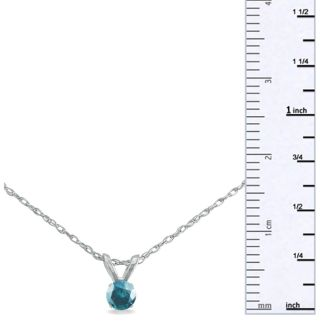 1/8ct Blue Diamond Pendant