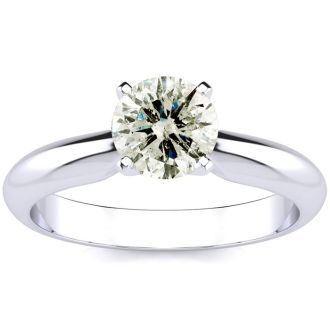 1 Carat Diamond Solitaire Engagement Ring In 14K White Gold. Incredible Deal On A 1 Carat Diamond!