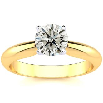 1 Carat Diamond Solitaire Engagement Ring In 14K Yellow  Gold. Incredible Deal On A 1 Carat Diamond!