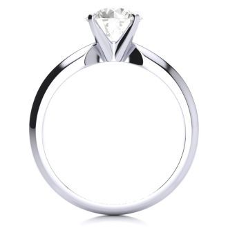 1 1/4 Carat Diamond Solitaire Engagement Ring In 14K White Gold