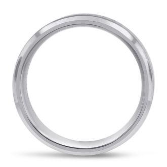 7 MM Polished Classic Men's Titanium Ring Wedding Band