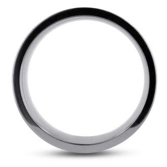10 MM Polished Grooved Men's Titanium Ring Wedding Band