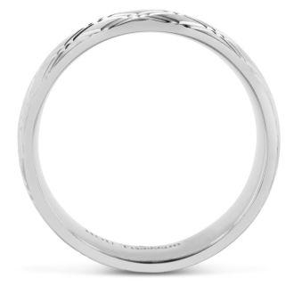 8 MM Brushed Argyle Design Men's Titanium Ring Wedding Band