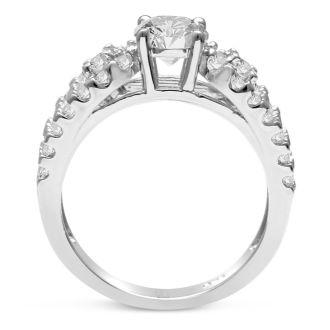 1 1/5 Carat Round Brilliant Diamond Engagement Ring In 14 Karat White Gold