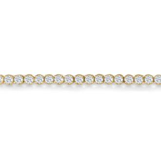 3.21 Carat Diamond Tennis Bracelet In 14 Karat Yellow Gold, 7 1/2 Inches