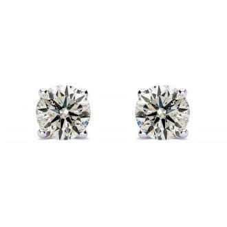 1/2 Carat Diamond Stud Earrings In 14 Karat White Gold as Featured on The Doctors