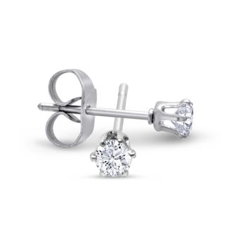 Set Of Five 1/3ct Cubic Zirconia Stud Earrings.  All 5 Pairs Of Shimmering Studs For 1 Low Price!