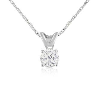 1/4ct 14k White Gold Diamond Pendant