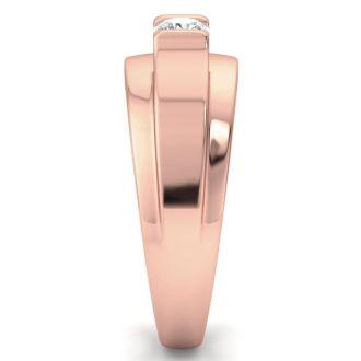 Men's 1/3ct Diamond Ring In 10K Rose Gold, G-H, I2-I3