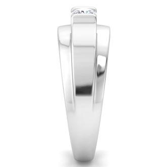 Men's 1/3ct Diamond Wedding Band in 14k White Gold