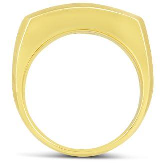 Men's 1ct Diamond Ring In 14K Two-Tone Gold, G-H, I2-I3