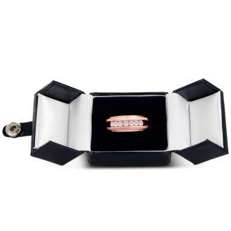 Men's 3/4ct Diamond Ring In 10K Rose Gold, I-J-K, I1-I2