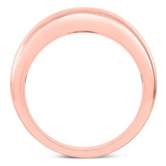 Men's 3/4ct Diamond Ring In 14K Rose Gold, G-H, I2-I3