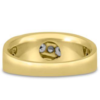 Men's 3/5ct Diamond Ring In 10K Yellow Gold, G-H, I2-I3