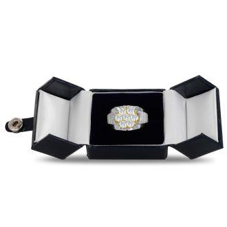 Men's 1 3/4ct Diamond Ring In 10K Two-Tone Gold, G-H, I2-I3