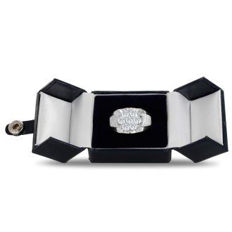Men's 1 3/4ct Diamond Ring In 14K White Gold, G-H, I2-I3