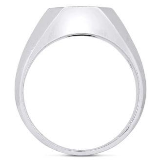 Men's 1/4ct Diamond Ring In 10K Two-Tone Gold, I-J-K, I1-I2