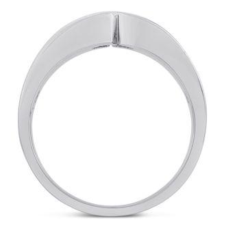 Men's 1/10ct Diamond Ring In 14K White Gold, G-H, I2-I3