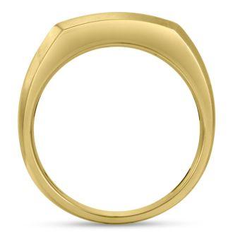 Men's 3/4ct Diamond Ring In 10K Two-Tone Gold, I-J-K, I1-I2