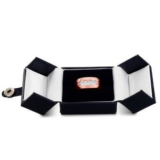Men's 3/4ct Diamond Ring In 14K Rose Gold, I-J-K, I1-I2