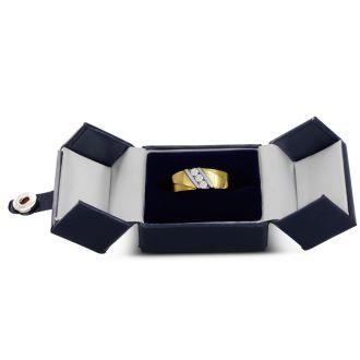 Men's 1/4ct Diamond Ring In 10K Two-Tone Gold, G-H, I2-I3