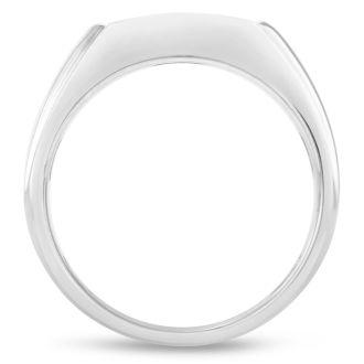 Men's 1/3ct Diamond Ring In 14K White Gold, G-H, I2-I3