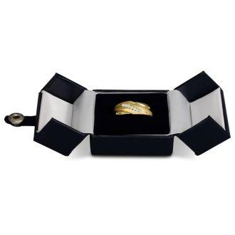 Men's 1/10ct Diamond Ring In 10K Yellow Gold, G-H, I2-I3