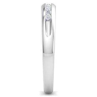 Men's 1/5ct Diamond Ring In 14K White Gold, G-H, I2-I3