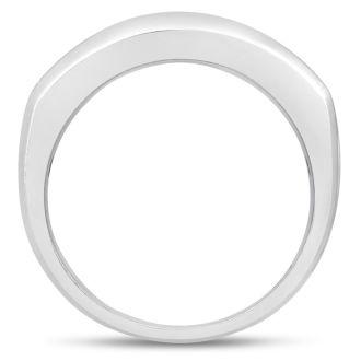 Men's 2/3ct Diamond Ring In 10K White Gold, I-J-K, I1-I2
