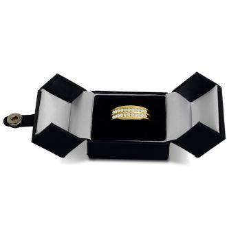 Men's 2/3ct Diamond Ring In 14K Yellow Gold, I-J-K, I1-I2
