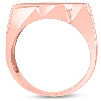 Men's 1 1/4ct Diamond Ring In 14K Rose Gold, I-J-K, I1-I2