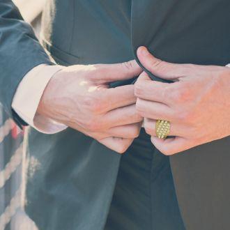 Men's 1 1/4ct Diamond Ring In 14K Yellow Gold, I-J-K, I1-I2
