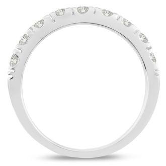 1/2ct Diamond Wedding Band In 14 Karat White Gold