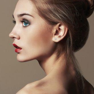 1/10 Carat Diamond Stud Earrings In 14 Karat White Gold