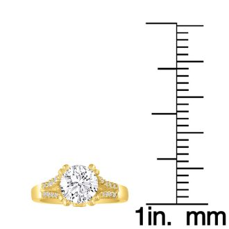 Hansa 2/3ct Diamond Round Engagement Ring in 14k Yellow Gold, I-J, SI2-I1, Available Ring Sizes 4-9.5