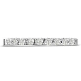 1/4ct Diamond Wedding Band In 14 Karat White Gold