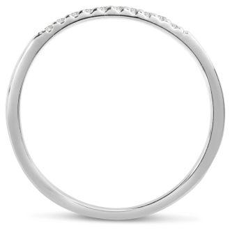0.05ct Diamond Wedding Band In 14 Karat White Gold