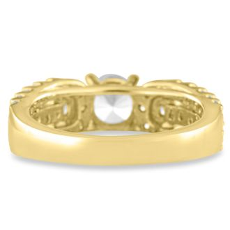 1 1/5ct Round Brilliant Diamond Engagement Ring Crafted in 14 Karat Yellow Gold