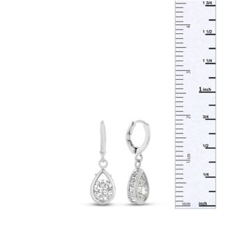 Swarovski Elements Crystal Pear Shape Drop Earrings, 3/4 Inch