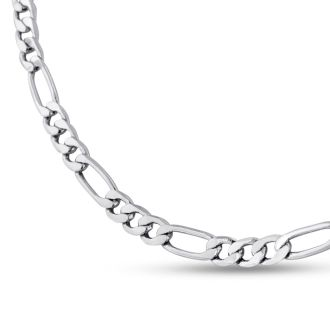 Ladies Stainless Steel 18 Inch Figaro Chain