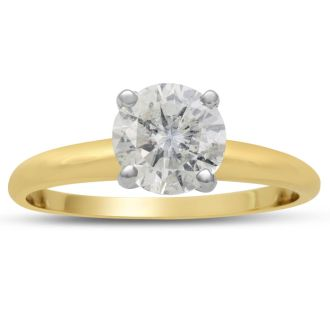1 1/4 Carat Diamond Solitaire Engagement Ring In 14K Yellow Gold