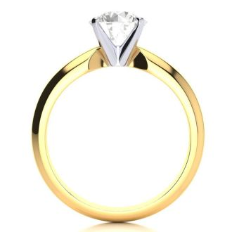 1 1/2 Carat Diamond Solitaire Engagement Ring In 14K Yellow Gold