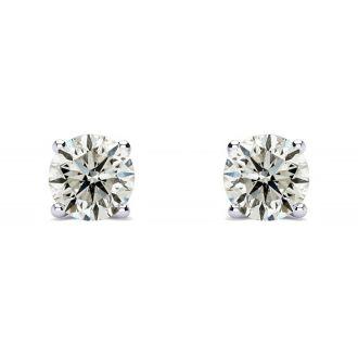 1/2 Carat Diamond Stud Earrings In Platinum Featured on Dr. Phil