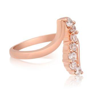 1/2 Carat Crystal Journey Ring In 18 Karat Rose Gold Overlay