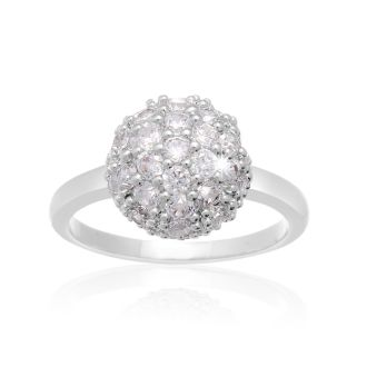 Crystal Pave Ball Ring