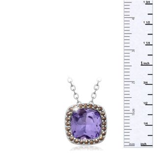 4ct Crystal Tanzanite and Marcasite Necklace